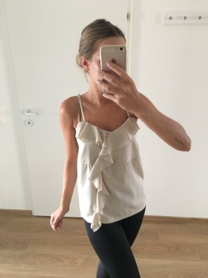 Only Blusa sin mangas beige claro-blanco puro