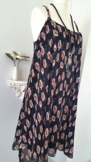 Glamorous A-lijn jurk zwart-roze Polyester
