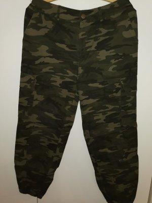 Primark High Waist Trousers black-khaki
