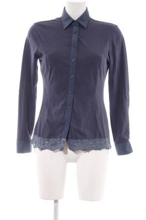 Camomilla Langarm-Bluse lila-blau Elegant