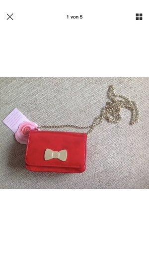 Camomilla Rot Klein Tasche Neu von Italy