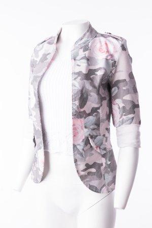 Camouflage-Blazer mit Rosenprint Gr. M
