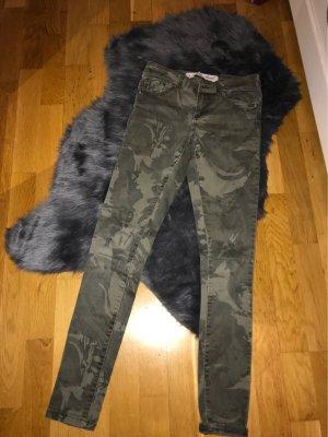 Pantalon taille basse kaki-gris vert