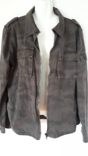 Military Jacket dark grey-dark green