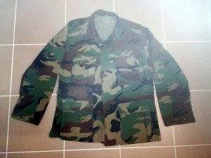 Chaqueta militar multicolor tejido mezclado