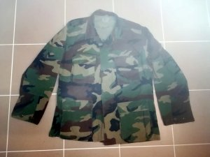 Military Jacket multicolored mixture fibre