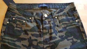 MISS ANNA Pantalón de cinco bolsillos gris verdoso