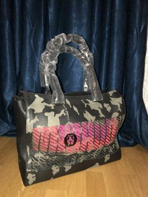 Camouflage Leder Handtasche