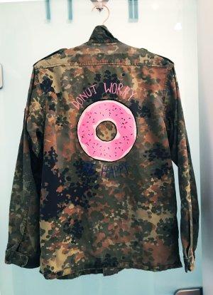 Camouflage Parka Jacke Boho Vintage Donut
