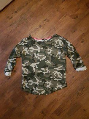Camouflage Pulli Oberteil mit dreiviertel Ärmel