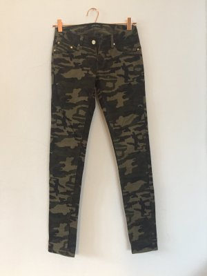 Camouflage Röhrenjean