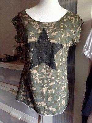 Camouflage Shirt von Fishbone New Yorker in L mit Stern