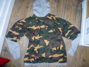 Sweatshirt met capuchon khaki-olijfgroen