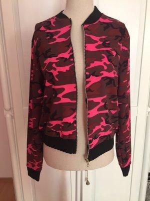 Camouflage Tarn Jacke pink schwarz