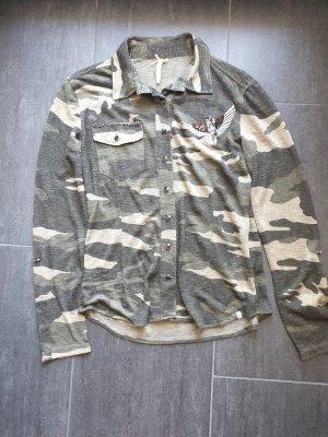 Key Largo Shirt met lange mouwen veelkleurig Gemengd weefsel