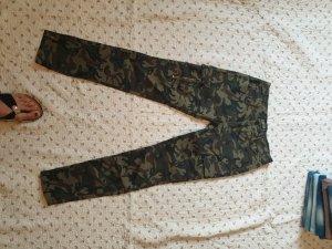 Low-Rise Trousers multicolored mixture fibre