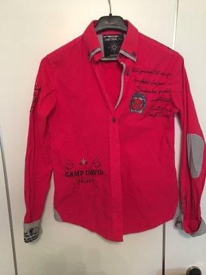 Camp David Cuello de blusa magenta