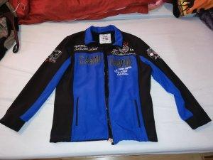 Camp David Chaqueta softshell negro-azul