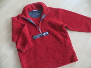 Campagnolo Teddyfleece Pullover Troyer rot Oversize Unisex Gr.M