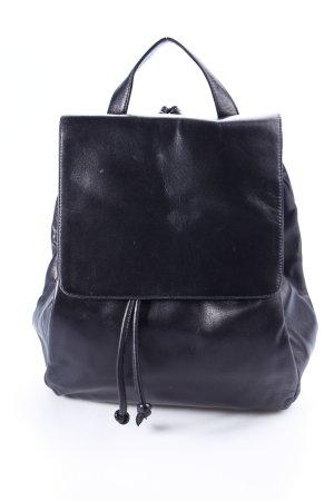 Campanile Mini kleiner Rucksack schwarz casual 90er 90s Leder Backpack