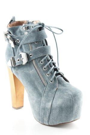 Campbell Plateau-Stiefeletten kadettblau extravaganter Stil