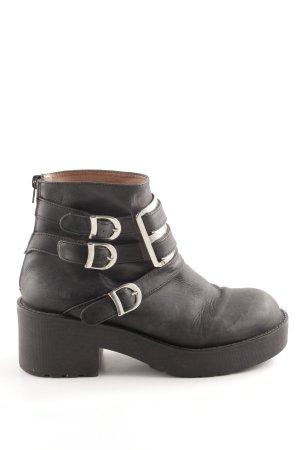 Campbell Reißverschluss-Stiefeletten schwarz Casual-Look