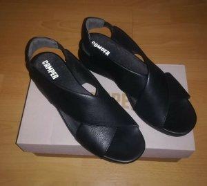Camper Comfort Sandals black leather