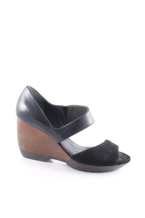 Camper High Heel Sandaletten schwarz-braun Casual-Look