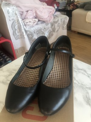 Camper Kim Mary Jane Schuhe Shoes Pump Schwaz 39 Leder