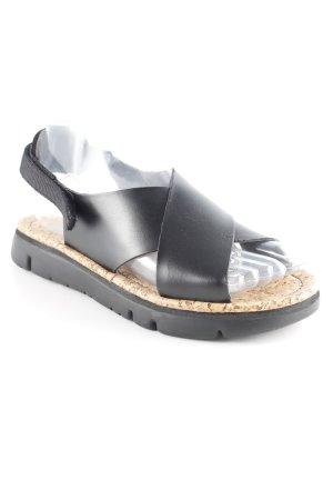 Camper Komfort-Sandalen schwarz-beige schlichter Stil