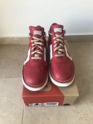 Camper Sneaker stringata rosso scuro-bianco