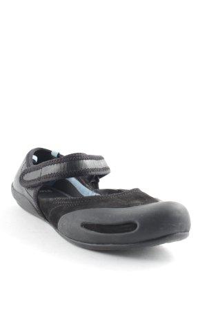 Camper Riemchen Ballerinas schwarz-hellblau sportlicher Stil
