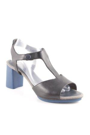 Camper Riemchen-Sandaletten schwarz-blau klassischer Stil