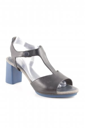 Camper Strapped High-Heeled Sandals black-blue classic style