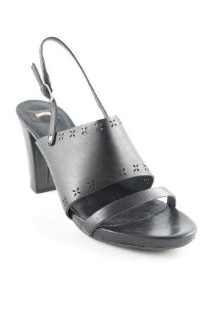 Camper Riemchen-Sandaletten schwarz klassischer Stil