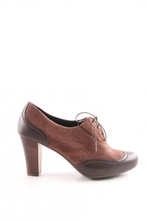 Camper Lace-up Pumps brown-bronze-colored street-fashion look
