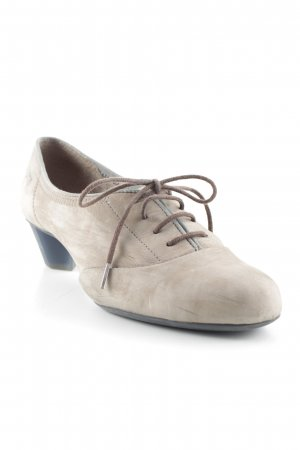 Camper Lace-up Pumps grey brown casual look
