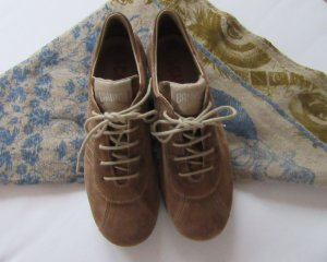 Camper Lace Shoes sand brown leather