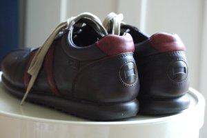 Camper Scarpa stringata marrone-rosso-rosso scuro