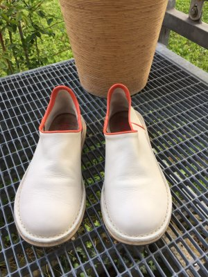 Camper Mocassins beige clair-orange cuir
