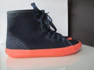 Camper Schuhe Leder Sneaker Boots Größe 39 Blau mit Rosa.