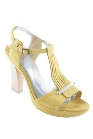 Camper T-Strap Sandals dark yellow elegant