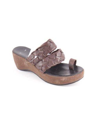 Camper Wedges Sandaletten dunkelbraun klassischer Stil