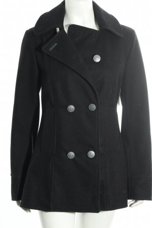 Camplin Wolljacke schwarz Street-Fashion-Look