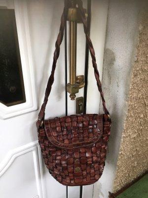 Campomaggi Handbag brown red leather