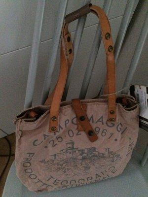 Campomaggi- Canvas-Shopper, Vintage-Rosa, super schön, neu
