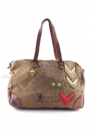 "Campomaggi Carry Bag ""Baule Stemmi C/Stampa Shopping Bag Cognac"""
