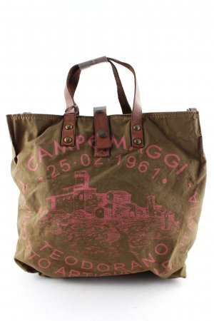 "Campomaggi Carry Bag ""Shopping Picc. C/Stampa Cognac St. Fuchsia"""