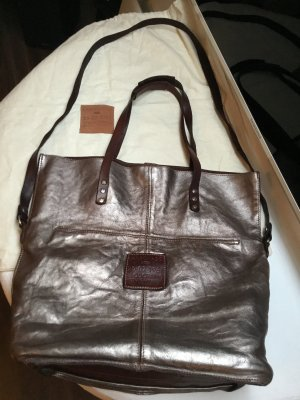 Campomaggi Shopper bronze metallic Leder