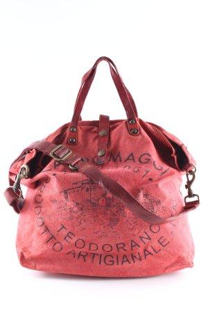 Campomaggi Shopper ziegelrot-dunkelrot Motivdruck Casual-Look